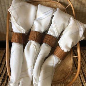 Cottagecore wood napkin holder. Set of 4